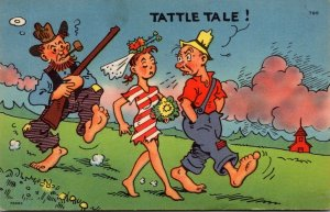 Humour Young Couple Farmer With Shotgun Tattle Tale