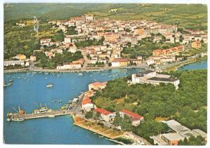Croatia, VRSAR, Aerial view, 1981 used Postcard