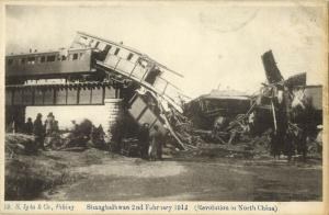 china, Xinhai Revolution 1912 Shanhaiguan Railway destroyed by Revolutionaries 2