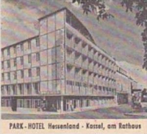 GERMANY KASSEL PARK HOTEL HESSENLAND VINTAGE LUGGAGE LABEL
