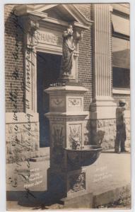 RPPC, W.C.T.U. Drinking Fountain, Moose Jaw