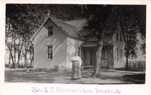 Pomeroy IA Mrs C F (E?) Hillstrom and Their Home RPPC c1908