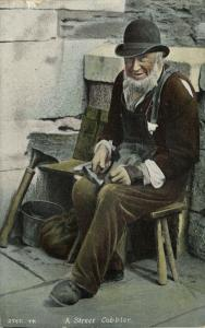 Old Street Cobbler at Work, Costumes (1910s)
