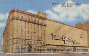 Dallas Texas Titche-Goettinger Dept Store Linen Antique Postcard J67098
