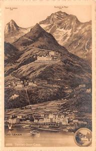 Switzerland Old Vintage Antique Post Card Territet Gilon Caux Unused