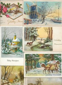 Beautiful Merry Christmas and New Year Postcard Lot of 40 01.13