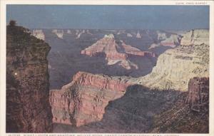 Arizona Grand Canyon Night Lights and Shadows Mojave Point Fred Harvey Detroi...