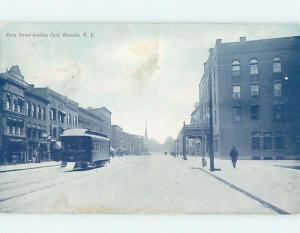 Divided-Back STREETCAR ON MAIN STREET Batavia New York NY F1323