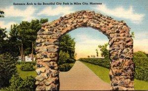 Montana Miles City City Park Entrance Arch