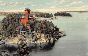 Thousand Islands New York Castle Rest Birdseye View Antique Postcard K20363
