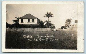 Postcard Dominican Republic Monte Cristi Calle Sanchez RPPC Photo c1920s AF6