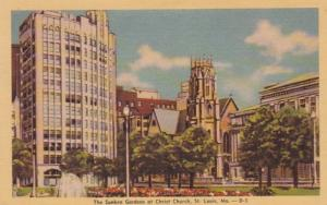 Missouri St Louis Sunken Gardens At Christ Church 1962 Dexter Press