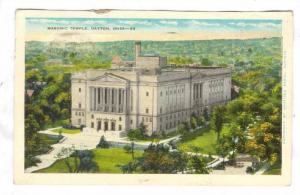 Bird's Eye View, Masonic Temple, Dayton, Ohio, PU-1936