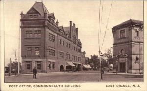 East Orange NJ Street Scene & Bldgs c1910 Postcard