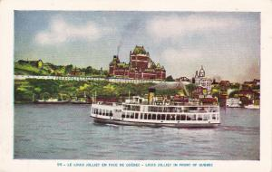 QUEBEC, Canada, 1900-1910's; Le Louis Jolliet En Face De Quebec