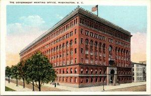 Vtg 1920s The Government Printing Office Washington DC Postcard