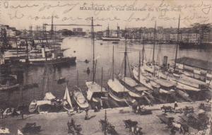 Boats, Vue Generale Du Vieux-Port, MARSEILLE (Bouches Du Rhone), France, PU-1920