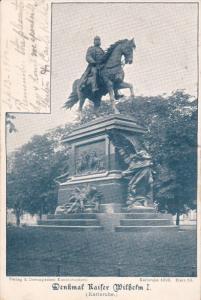 KARLSRUHE , Germany , 1898 ; Denkmal Kaiser Wilhelm I