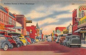 F4/ Biloxi Mississippi Postcard Linen Business Rosenblum Automobiles Stores