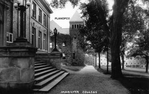 MARIETTA, OHIO MARIETTA COLLEGE  RPPC REAL PHOTO POSTCARD