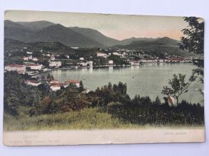 Switzerland Swiss Lugano Lake City Veduta Generale mountains Postcard A13
