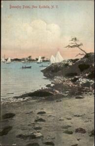 New Rochelle NY Bonnefoy Point c1910 Postcard