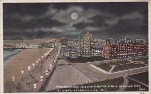 Marlborough Blenheim Hotel & Million Dollar Pier By Night Atlantic City New J...