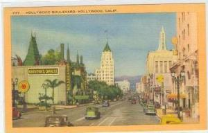 Hollywood Boulevard, Hollywood, California, 30-40s