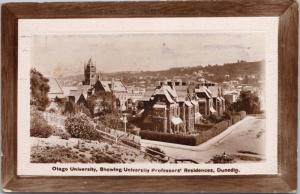 Otago University Dunedin NZ New Zealand Professors Residences RPPC Postcard E33