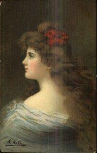 TUCK Asti Beautiful Woman Series c1910 Postcard MARGUERITE