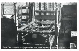 RPPC of a Rope Bed, Fort Nisqually-Pt. Defiance Park Tacoma Washingto