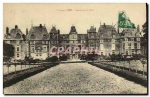Old Postcard Chateau d'Eu Park Vue Prize