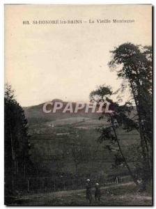Old Postcard St Honore les Bains Old Mountain