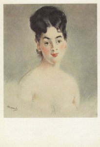 E. MANET ; Young Woman , Musee du Louvre , 1950-70s