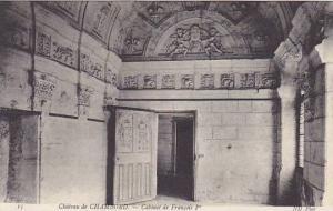 France Chambord Le Chateau Cabinet de Francois 1er
