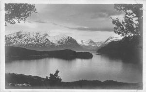 Lyngenfjord Norway Birds Eye View Real Photo Antique Postcard J77898