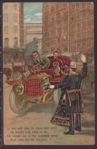 Police,Automobile Postcard