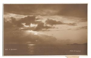 Sunset Judges Hastings England RPPC Real Photo Sepia Postcard