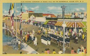 OCEAN CITY , New Jersey , 1930-40s ; Flag Raising Ceremony