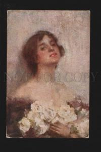 074904 Cute BELLE w/ White ROSES by SERRALUNGA vintage Italian