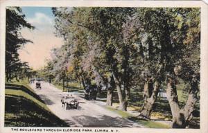 New York Elmira The Boulevard Through Eldridge Park