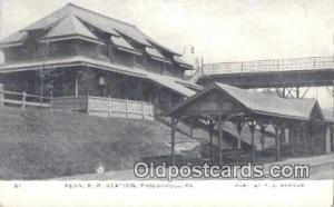 Penn R R Station, Phoenixville, PA, Pennsylvania, USA Depot Postcard, Railroa...