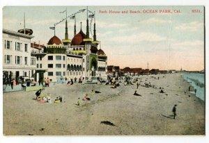 060613 OCEAN PARK CA Postcard Folks @ Bath House Vintage Postcard