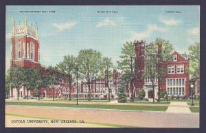Loyola Univ Marquette Hall New Orleans LA unused c1937