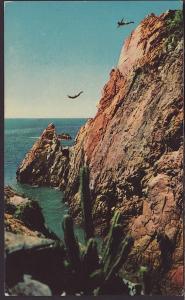 Cliff Diver,Mexico Postcard BIN