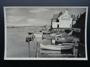 Norfolk WELLS NEXT THE SEA East End BULLARD & SONS ALES SIGN c1950's RP Postcard