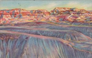 Evening Shadows Painted Desert and Bule Forest Arizona 1959