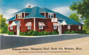 Massachusetts Webster Colonial Club Restaurant Thompson Road Route 193 sk885
