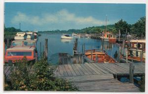 Henlopen Yacht Basin Boats Rehoboth Beach Delaware postcard