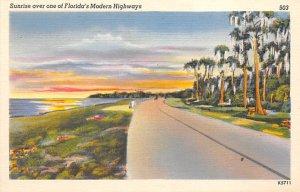 Sunrise Over One of Florida's Modern Hightways  Misc FL
